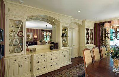 Dining room built in china cabinets